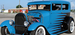 Cool Street Rods, & Hot Rods - Nice scalloped custom paint job.