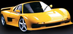Ascari Ecosse - Top speed 200 MPH - painted in yellow, nice.